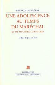 Une adolescence au temps du marechal - Intérieur - Format classique
