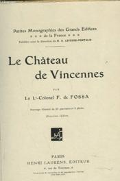 Le Château De Vincennes - Couverture - Format classique