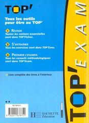 Top'Exam T.41 - 4ème de couverture - Format classique