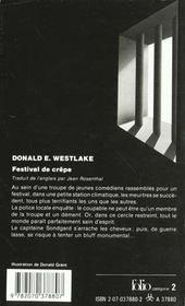 Festival De Crepe - 4ème de couverture - Format classique