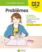 LES PETITS DEVOIRS ; problèmes ; CE2 - Couverture - Format classique