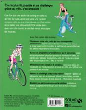 MON CAHIER ; vélo training - 4ème de couverture - Format classique