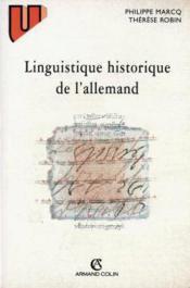 Linguistique historique de l'allemand - Couverture - Format classique