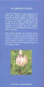 Les jardins du rayol - 4ème de couverture - Format classique