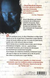 Cold granite - 4ème de couverture - Format classique
