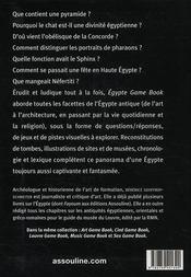 Egypte game book ; tout sur l'Egypte des pharaons - 4ème de couverture - Format classique