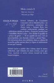Mots croisés t.8 - 4ème de couverture - Format classique