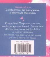 Un petit livre pour maman - 4ème de couverture - Format classique