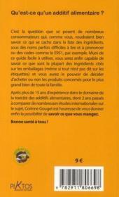 Additifs alimentaires ; le guide indispensable pour ne plus vous empoisonner (édition 2010) - 4ème de couverture - Format classique