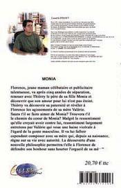 Monia ; l'hiver devient toujours printemps - 4ème de couverture - Format classique