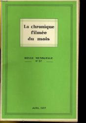La Chronique Filmee Du Mois N°37 - Couverture - Format classique