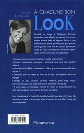 A Chacune Son Look - 4ème de couverture - Format classique