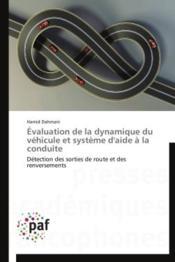 Évaluation de la dynamique du véhicule et système d'aide à la conduite ; détection des sorties de route et des renversements - Couverture - Format classique