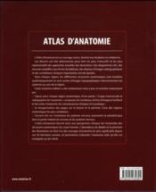 Atlas d'anatomie (3e édition) - 4ème de couverture - Format classique