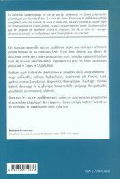 La Physique Aux Concours Ccp-E4a Mp-Pc-Psi-Ats Problemes Corriges 2000-2001 - 4ème de couverture - Format classique
