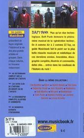 Daft punk de a a z - 4ème de couverture - Format classique