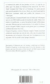 Arbres De Mai (Poche) - 4ème de couverture - Format classique