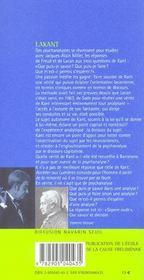 Lakant - 4ème de couverture - Format classique