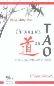 Chroniques du tao - Intérieur - Format classique