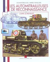 Les automitrailleuses de reconnaissance t.1 ; l'amr 33 Renault - Intérieur - Format classique