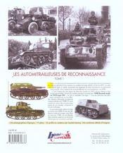 Les automitrailleuses de reconnaissance t.1 ; l'amr 33 Renault - 4ème de couverture - Format classique