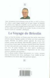 Le voyage de bricolin - 4ème de couverture - Format classique
