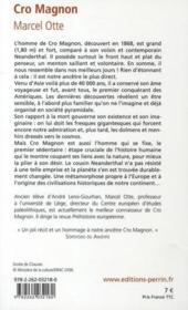 Cro Magnon ; aux origines de notre humanité - 4ème de couverture - Format classique