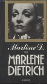 Marlene Dietrich. - Couverture - Format classique