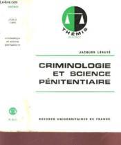 Criminologie Et Science Penitentiaire. - Couverture - Format classique