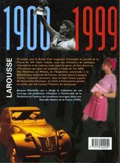 Journal De La France Au Xxeme Siecle - 4ème de couverture - Format classique