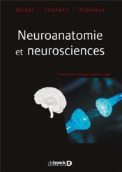 Neuroanatomie et neurosciences - Couverture - Format classique