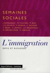 Immigration, Defis Et Richesse - Couverture - Format classique
