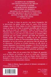 Oeuvre romanesque - 4ème de couverture - Format classique