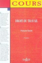 Droit du travail (2e édition) - Intérieur - Format classique