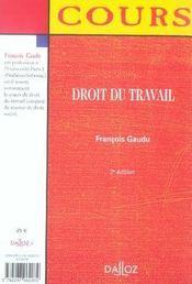 Droit du travail (2e édition) - 4ème de couverture - Format classique