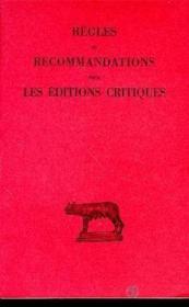 Règles & recommandations - Couverture - Format classique