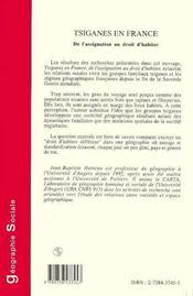 Tsiganes En France ; De L'Assignation Au Droit D'Habiter - 4ème de couverture - Format classique