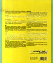 Les rencontres d'arles photographie 2007 - 4ème de couverture - Format classique