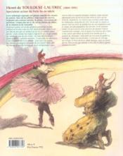 Toulouse-Lautrec en scène - 4ème de couverture - Format classique