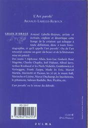 L Art Parodic - 4ème de couverture - Format classique
