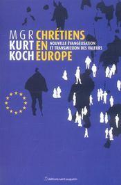 Chretiens en europe enjeux et defis - Intérieur - Format classique
