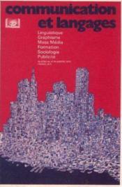Communication et langage, n°44 (linguistique, graphisme, mass média, formation, sociologie, publicité) - Couverture - Format classique