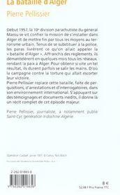 La bataille d'Alger - 4ème de couverture - Format classique