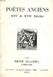 POETES ANCIENS. XVIe ET XVIIe SIECLES. - Couverture - Format classique