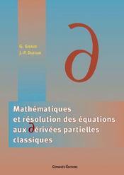 Mathematiques Et Resolution Des Equations Aux Derivees Partielles Classiques - Intérieur - Format classique