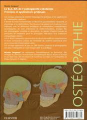 Le B.A..-BA de l'ostéopathie crânienne - 4ème de couverture - Format classique