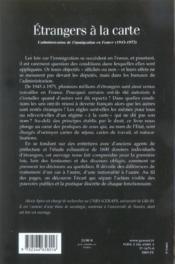 Étrangers à la carte ; l'administration de l'immigration en France, 1945-1975 - Couverture - Format classique