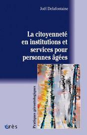 La citoyenneté en institutions et services pour personnes âgées - Intérieur - Format classique