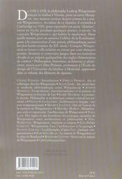 Penser, dessiner, construire ; wittgenstein et l'architecture - 4ème de couverture - Format classique