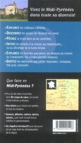Que faire en Midi-Pyrénées ? - 4ème de couverture - Format classique